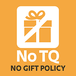 No TQ no gift policy