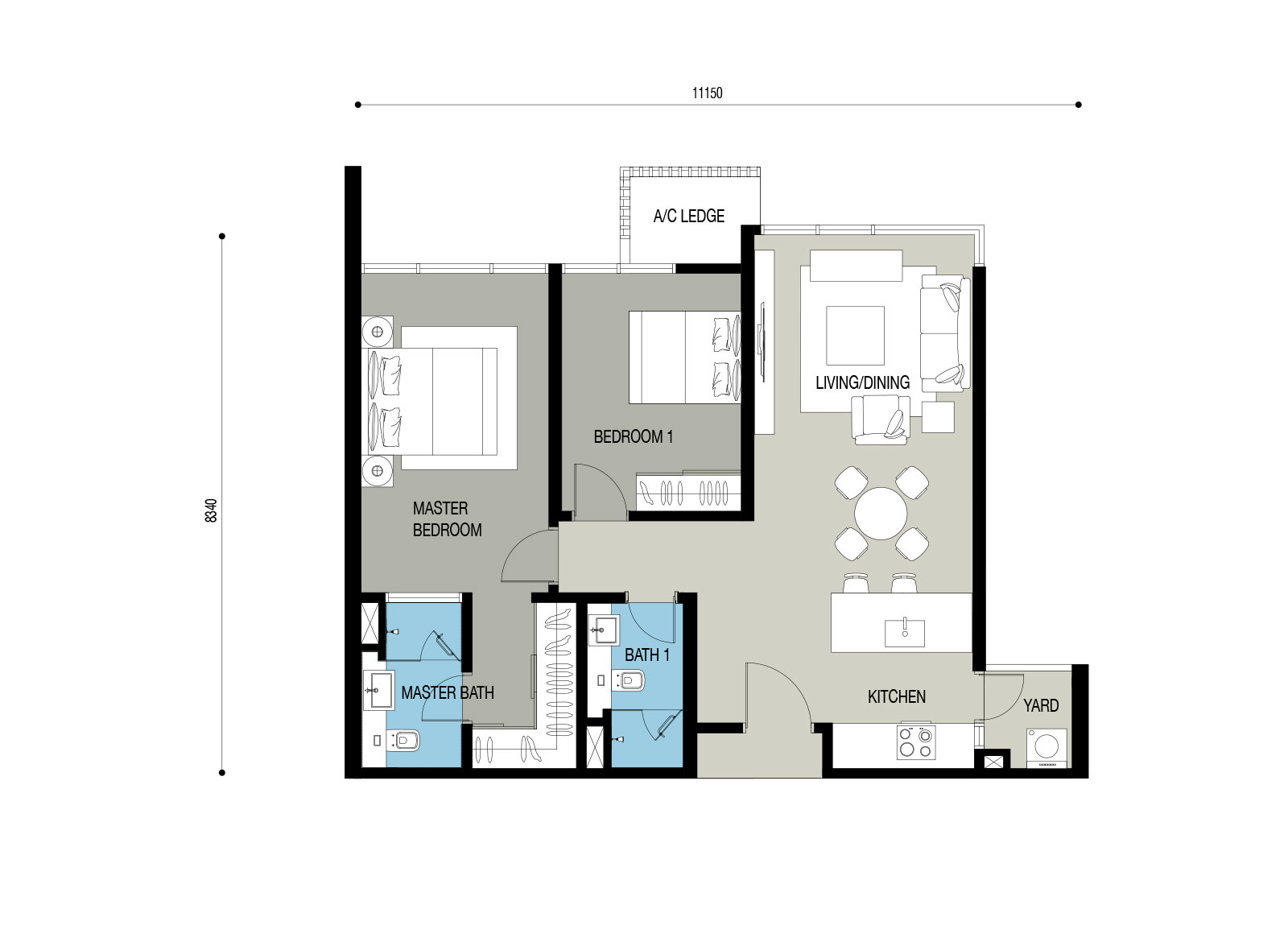 Quarza residence sime darby property for Floor plan cost estimator