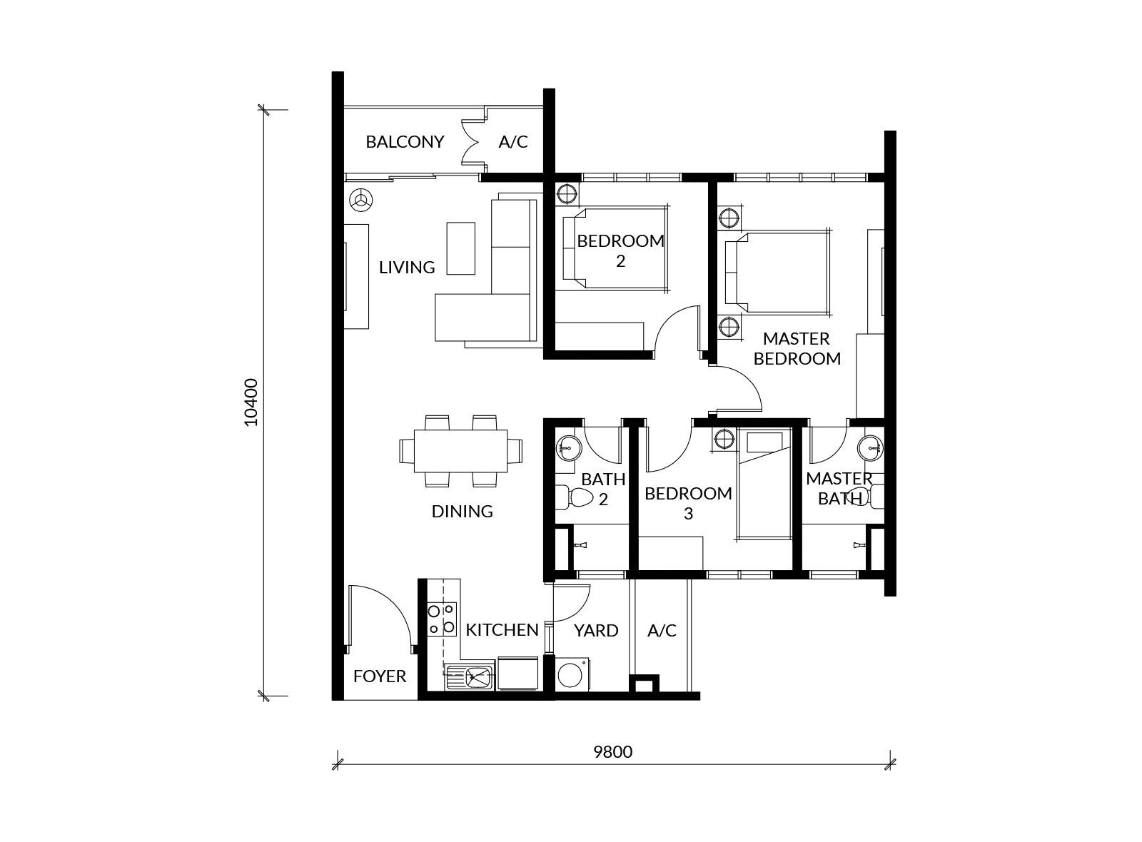 rimbun sanctuary apartments sime darby property Diagram of Family view larger images